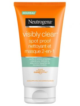 neutrogena nettoyant et masque Visibly clear Spot proof